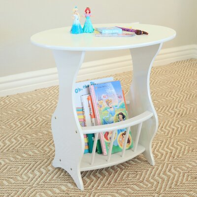 Magazine End Table Finish: White