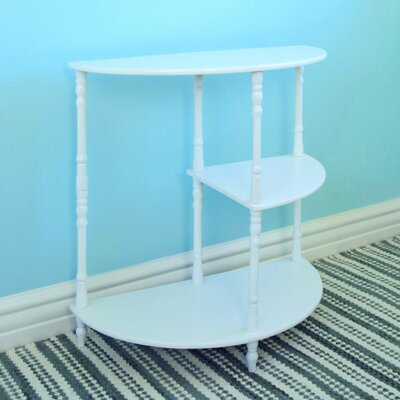 Multi Tiered End Table Finish: White