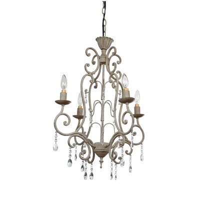 Cottage Chic 4-Light Candle-Style Chandelier
