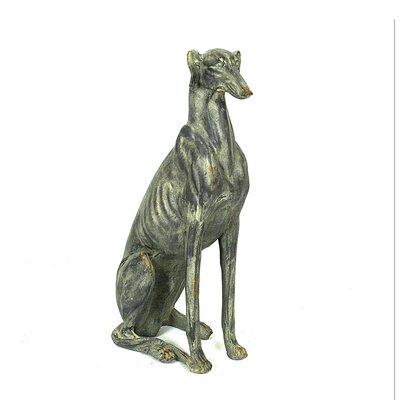 Creative Co-op Chateau Magnesia Dog Statue - Configuration: Left