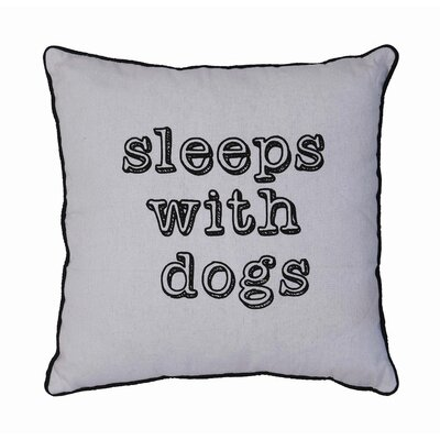 Sayings Sleeps With Dogs Linen Throw Pillow