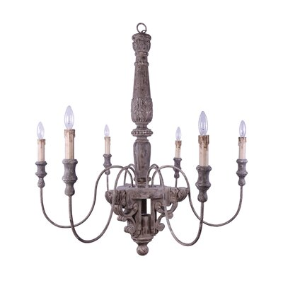 Chateau 6-Light Candle-Style Chandelier