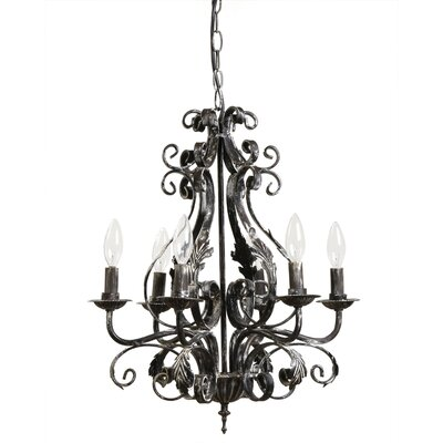 Knouse 6-Light Candle-Style Chandelier