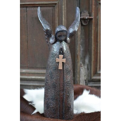 Hacienda Angel Statue With Cross