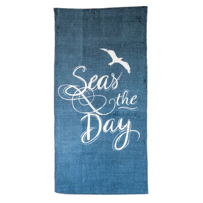 Come With Me Seas The Day Navy Blue Area Rug
