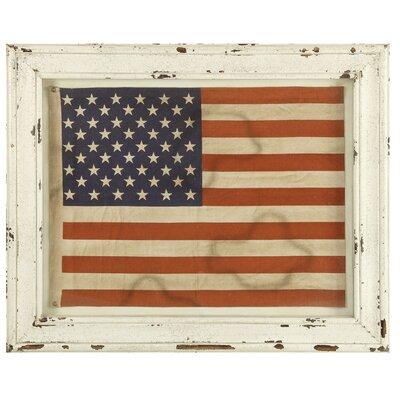 Grange Usa Flag Framed Painting Print
