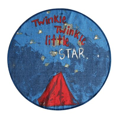 Enoch Twinkle, Twinkle Little Star Blue Area Rug