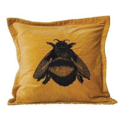 Honey Cotton Velvet Throw Pillow