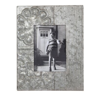 Garden Embossed Tin Picture Frame DA5686