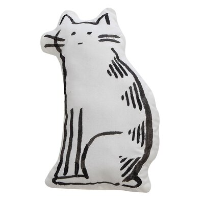Smudge Cotton Cat Pillow