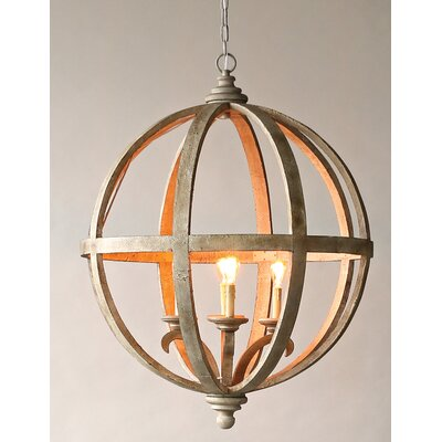 Chateau 4-Light Globe Pendant
