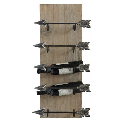 Sonoma 5 Bottle Wall Mounted Wine Rack