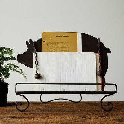 "Pig Shaped Book Holder 11"" Accent Shelves DA6650"