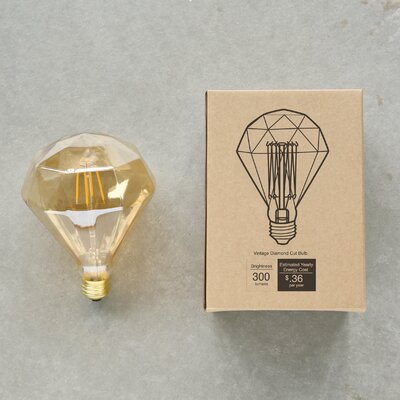 3W E-26 Vintage Diamond Shape Light Bulb