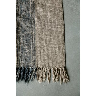 Casual Country Cotton Throw Blanket Color: Charcoal