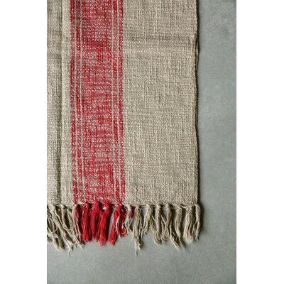 Casual Country Cotton Throw Blanket Color: Red