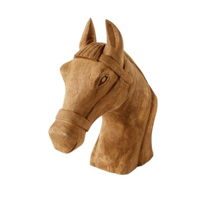 Hand-carved Mango Wood Horse Bust