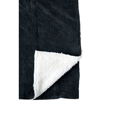 Chateau Sandwashed Throw Color: Charcoal