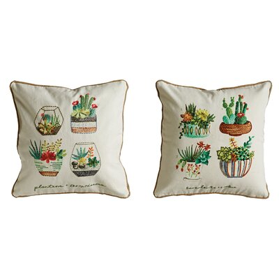 Bungalow Lane 100% Cotton Throw Pillow