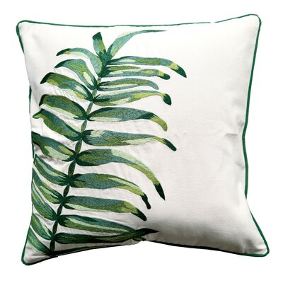Palm Cotton Throw Pillow
