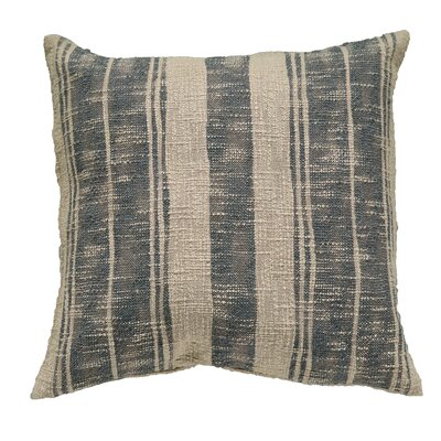 Square Stripe Cotton Throw Pillow Color: Charcoal