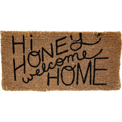 Honey and Gray Hi Honey Welcome Home Doormat
