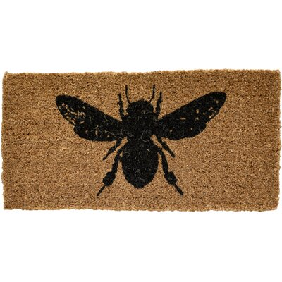 Honey and Gray Bee Doormat