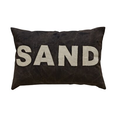 Waterside Sand Applique Lumbar Pillow