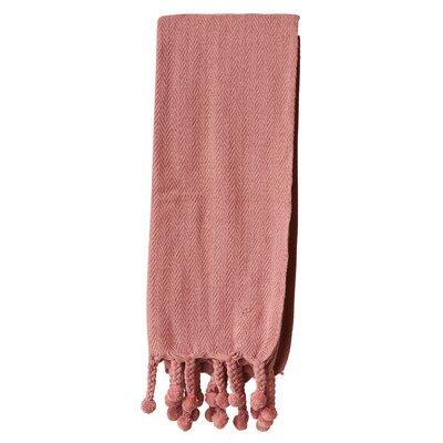 Havan Cotton Throw Blanket Color: Putty Pink