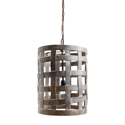 Casual Country Wood 1-Light Foyer Pendant
