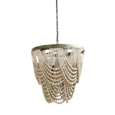 Hatfield Metal/Wood 3-Light Empire Chandelier