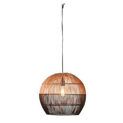 Beaulah Round Bamboo 1-Light Inverted Pendant