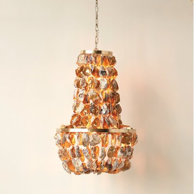 Canyon Grove Round Oyster Shell 1-Light Empire Chandelier