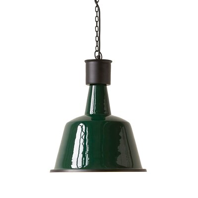 Round Enameled Iron 1-Light Inverted pendant