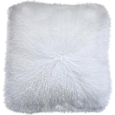 Pure Mongolian Throw Pillow Color: White