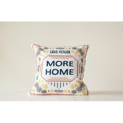 Utica Embroidred Throw Pillow