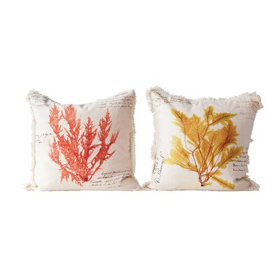 Claudelle 2 Piece Printed Throw Pillow Set