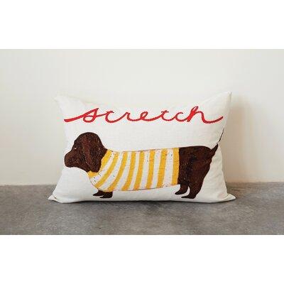 Mcknight Dog Stretch Lumbar Pillow