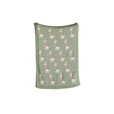 Loralee Giraffe 100% Cotton Blanket