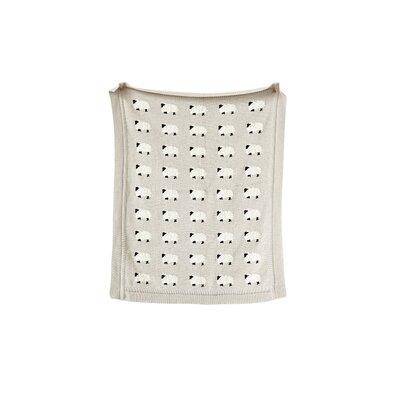 Genevie Sheep 100% Cotton Blanket