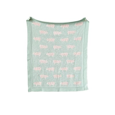 Sharyl Knit Pigs 100% Cotton Blanket