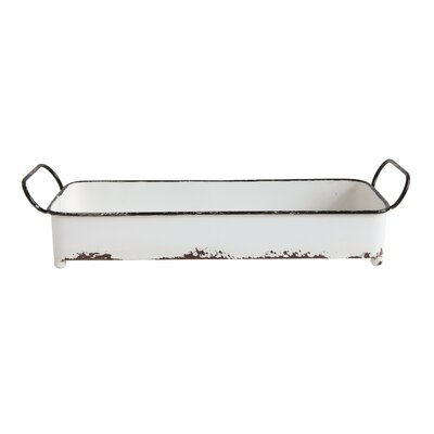 Bekey Decorative Rectangle Metal Accent Tray