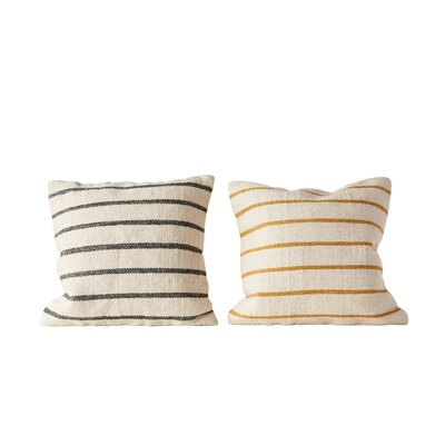 Balic Striped Throw Pillow Set
