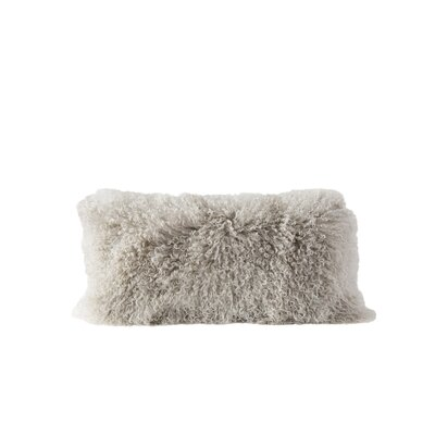 Back Bay Fur Lumbar Pillow Color: Gray