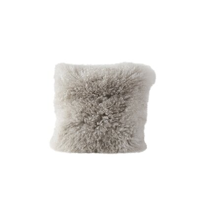 Back East Fur Throw Pillow Color: Gray