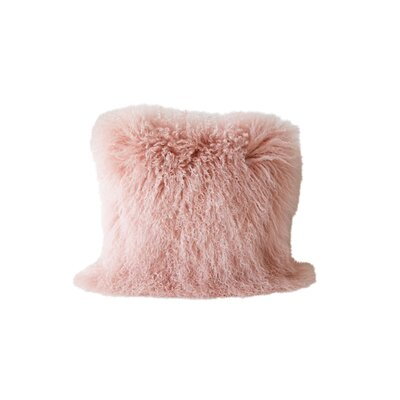 Back East Fur Throw Pillow Color: Pink
