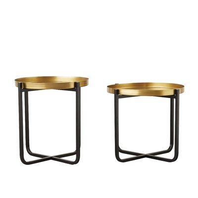 Burdine Metal End Tables Set