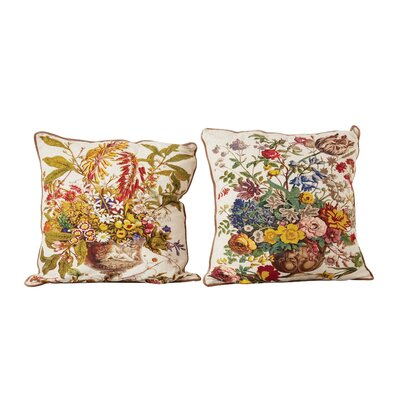 Haledon 100% Cotton Printed 2 Piece Euro Pillow Set
