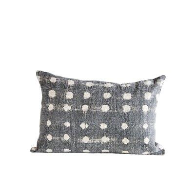 Dunlap Slub Polka Dot 100% Cotton Lumbar Pillow