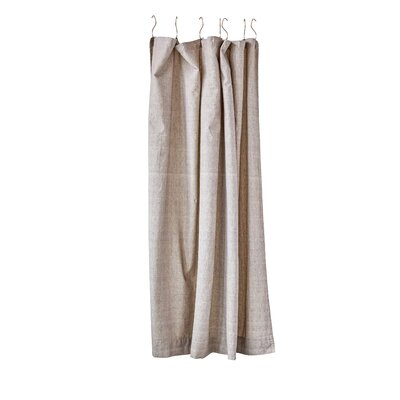 Shah Square Chambray 100% Cotton Shower Curtain with Button Holes